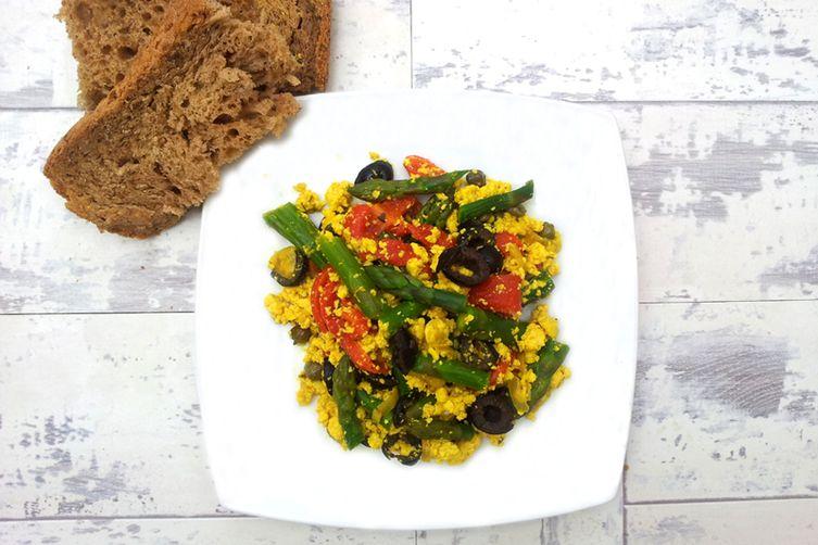 Asparagus Tofu Scramble [vegan]