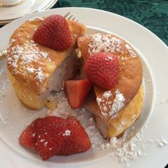 Stuffed French Toast with Strawberries and Cream