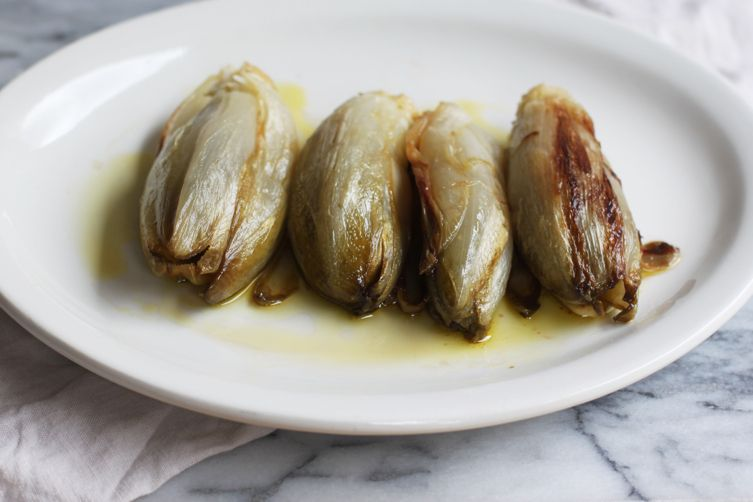 Braised Whole Belgian Endives (Indivie Intere a Crudo)