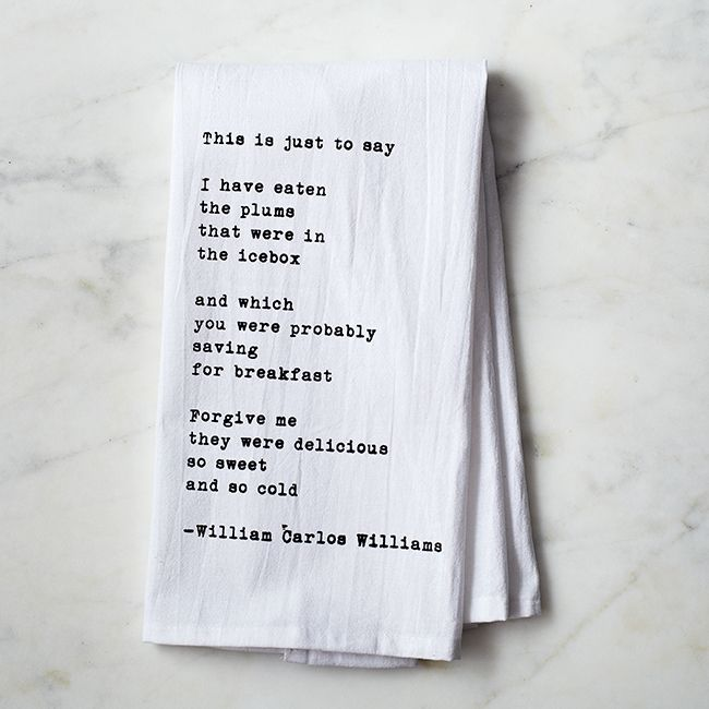 """This is Just To Say"" Tea Towel Silo"