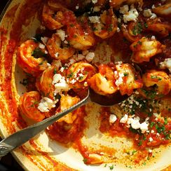 Greek Style Shrimp in Tomato Sauce with Feta