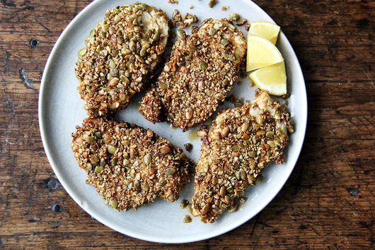 Pepita-Crusted Chicken Cutlets