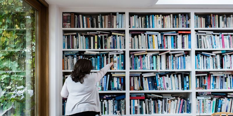 We take a peek inside her massive library