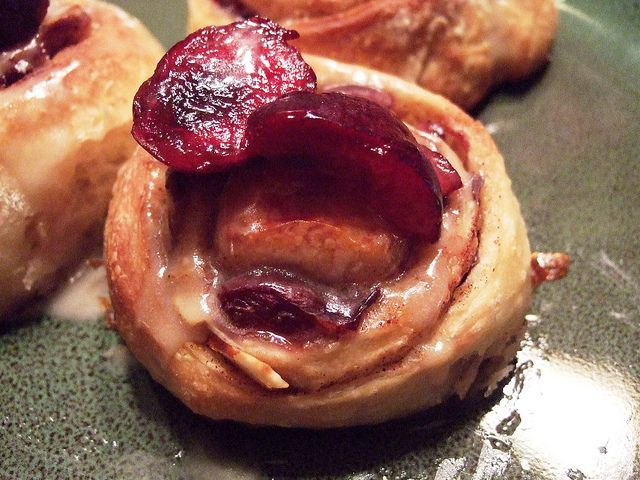 Cherry Almond Cinnamon Buns