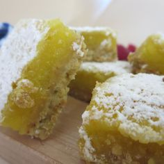 Meyer Lemon Bars with Brown Butter Pistachio Crust
