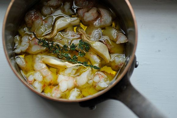 Olive Oil Poached Shellfish from Food52