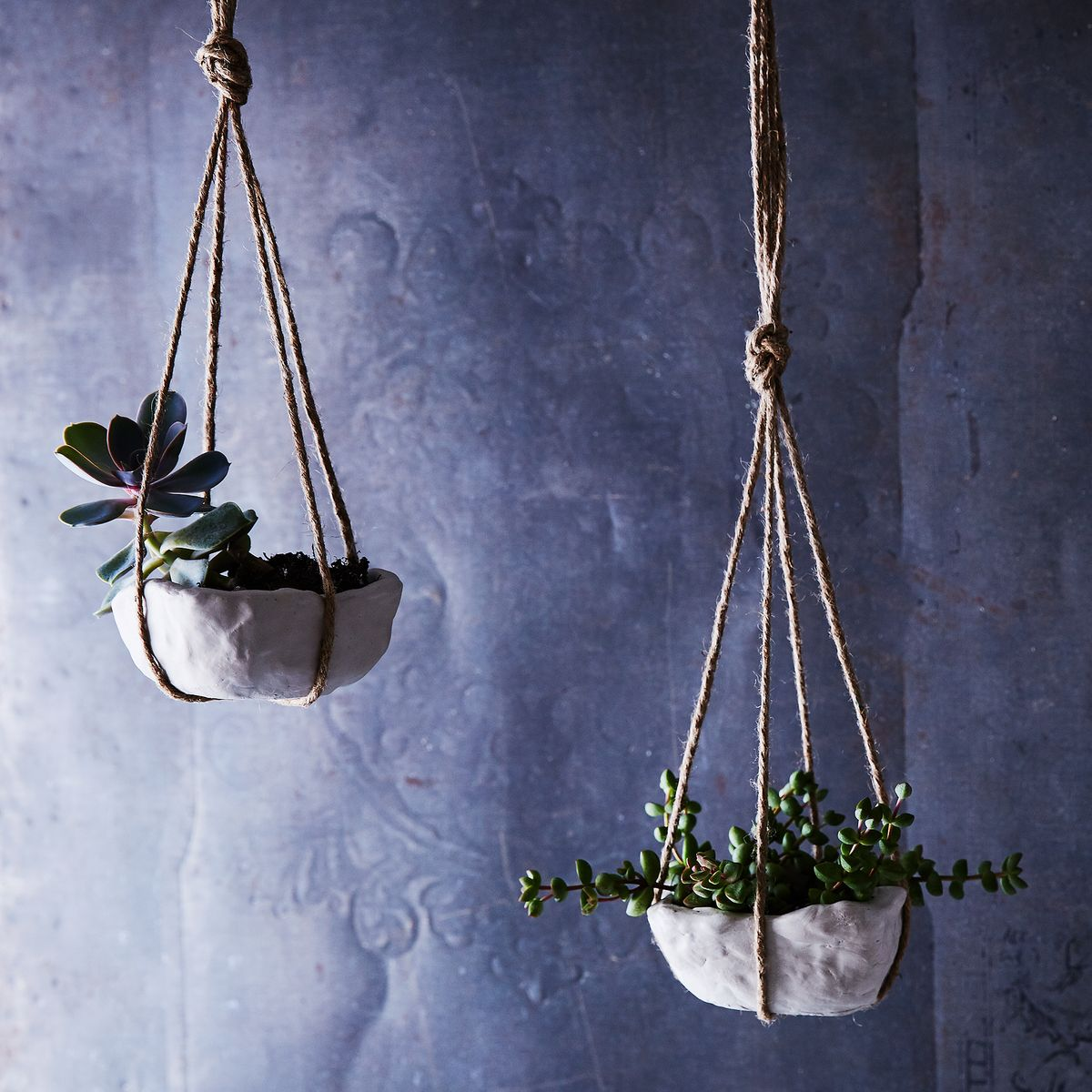 pinch pots make a comeback in diy air dry hanging planters - Diy Hanging Planter