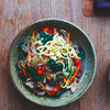 Beef & Vegetables with Sesame Glass Noodles (Japchae)