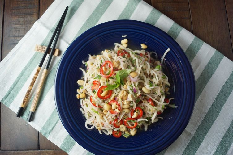 Spicy Thai Kohlrabi Salad