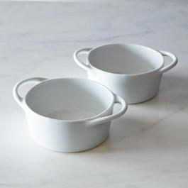 Pillivuyt Eden Individual Casserole White (Set of 2)