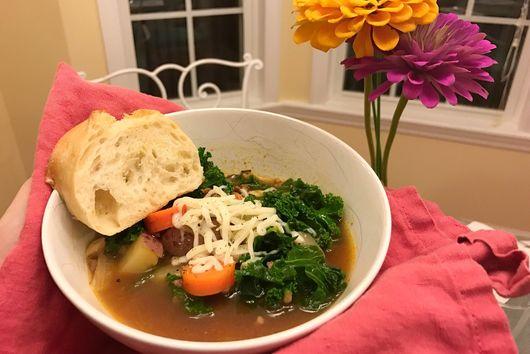 Spicy Sausage & Kale Soup