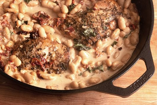 Tuscan Chicken With Cannellini Beans