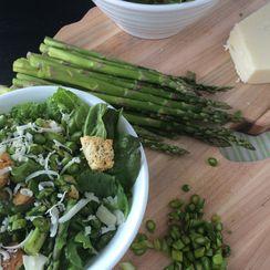 Asiago Asparagus Caesar Salad