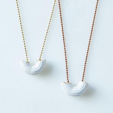 Porcelain Macaroni Necklace