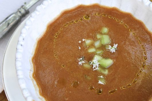 Roasted Red Gazpacho