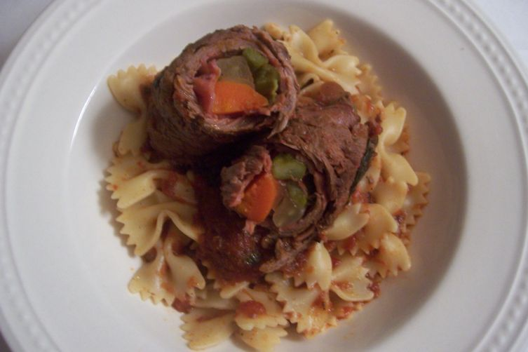 Farfalle Beef and Fennel Involtini