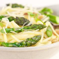 Asparagus and Shiitake Mushroom Noodle Bowl