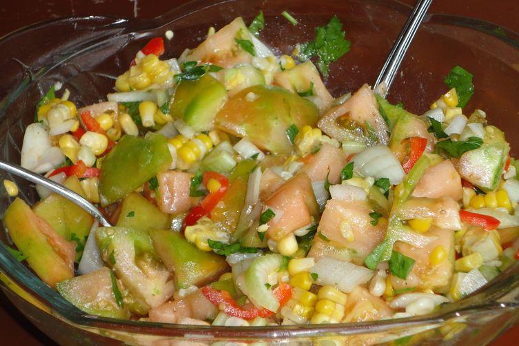 Green Tomato Corn Summer Salad
