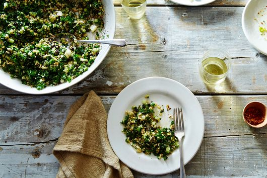 "Sqirl's Crispy Brown Rice ""Kabbouleh"""