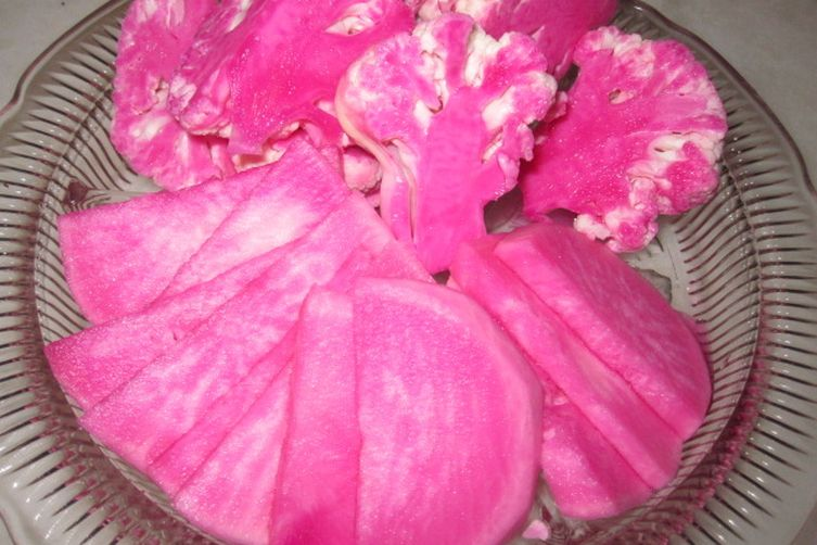 Beet Infused Pink Pickles