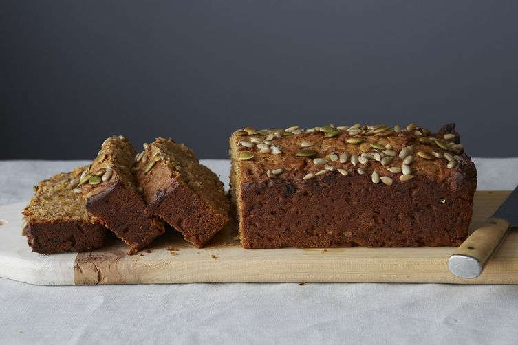 Date, Apricot, and Walnut Loaf Cake