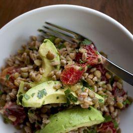 Lentil, Avocado, and Farro Salad