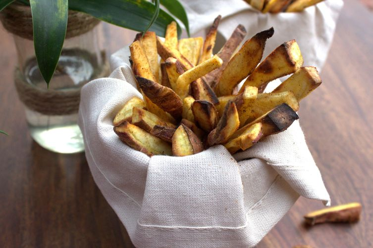 Cajun-roasted sweet potato fries