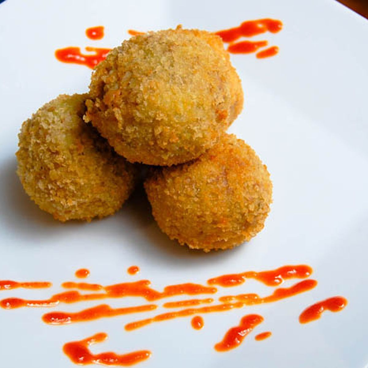Deep Fried Pork & Potato Balls