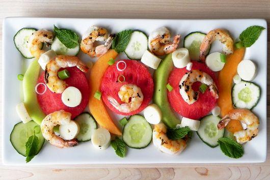 Grilled Shrimp and Melon Salad