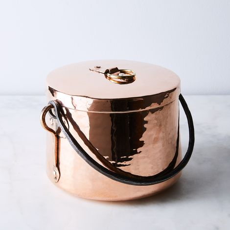 Vintage Copper French Medium Marmite Stockpot, Early 19th Century