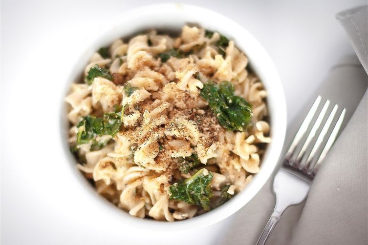 Gluten Free Kale and Cheese Pasta