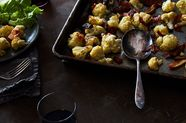 Roasted Cauliflower with Prosciutto and Dates