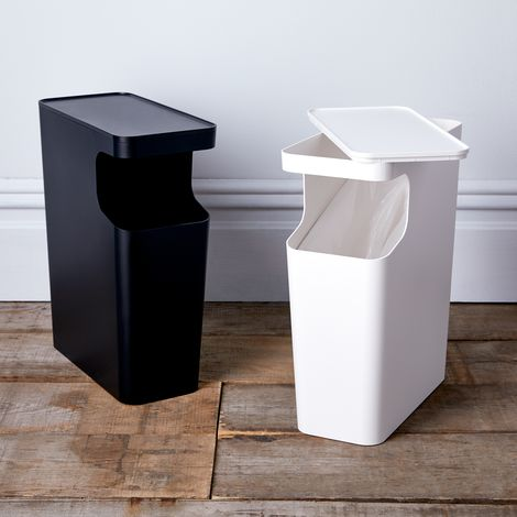 Side Table Trash Can