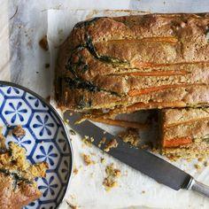 Cardamom carrot cake with honey glazed dutch carrots & roasted walnuts