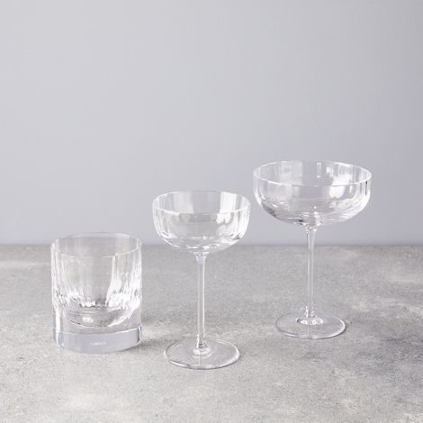 Fluted Crystal Cocktail Glasses
