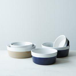 Dipped Ceramic Pet Bowl