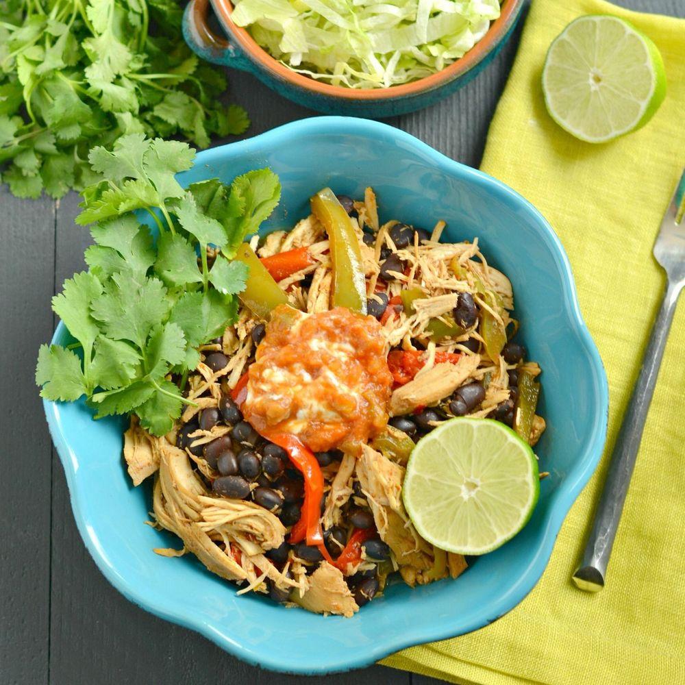 Chicken Taco Bowls Recipe: Crockpot Chicken Taco Bowls Recipe On Food52