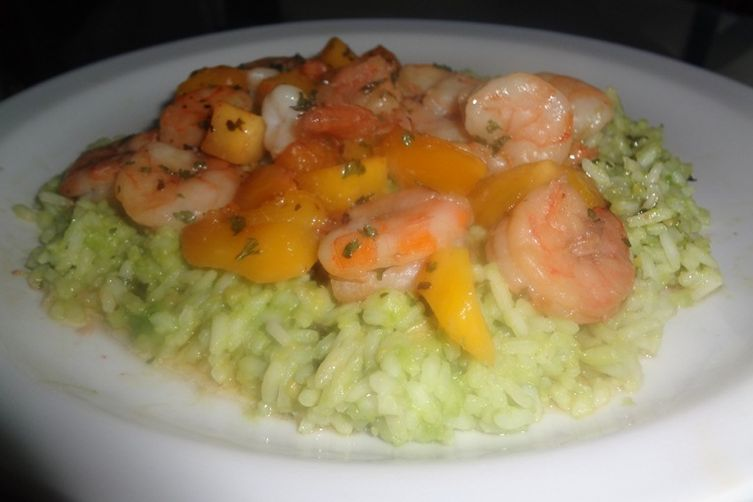 Cajun Shrimp  over Avocado Rice