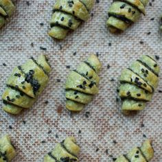 Matcha Rugelach with Black Sesame Filling