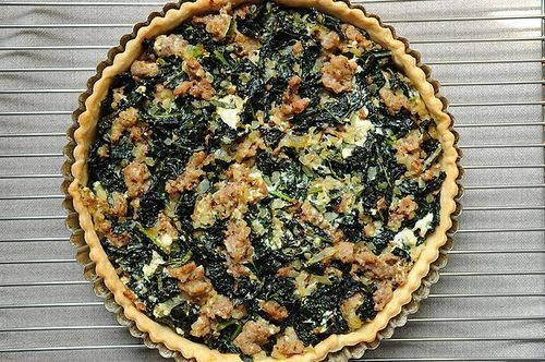 Sausage and Kale Dinner Tart from Food52