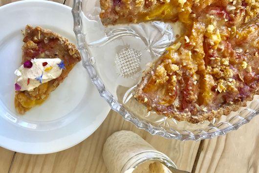 Springtime Peach Almond Tart