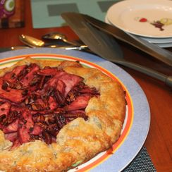 Apple, Black Rasberry and Pecan Crostada