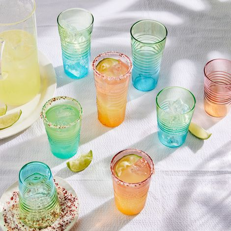 Ombré Sunrise Glasses (Set of 4)