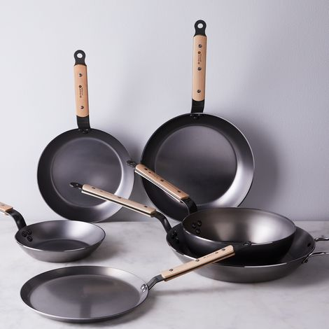 de Buyer Mineral B Carbon Steel & Wood Cookware