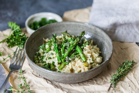 Vegan Asparagus Risotto