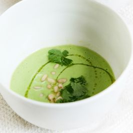 Chilled Avocado & Cucumber Soup with Yogurt