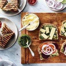 Mumbai Vegetable Sandwich with Cilantro Chutney