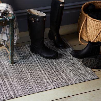 Striped Shag Indoor & Outdoor Mat