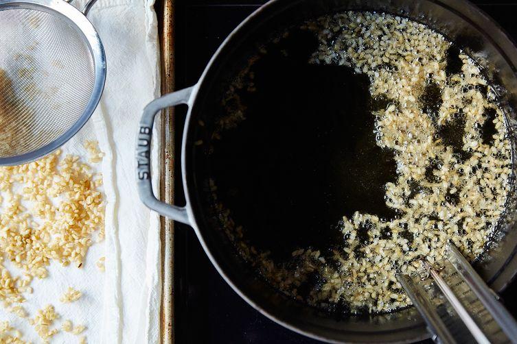 "Jessica Koslow's Crispy Brown Rice ""Kabbouleh"""