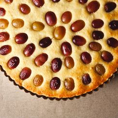 Grape, Almond, and Olive Oil Cake